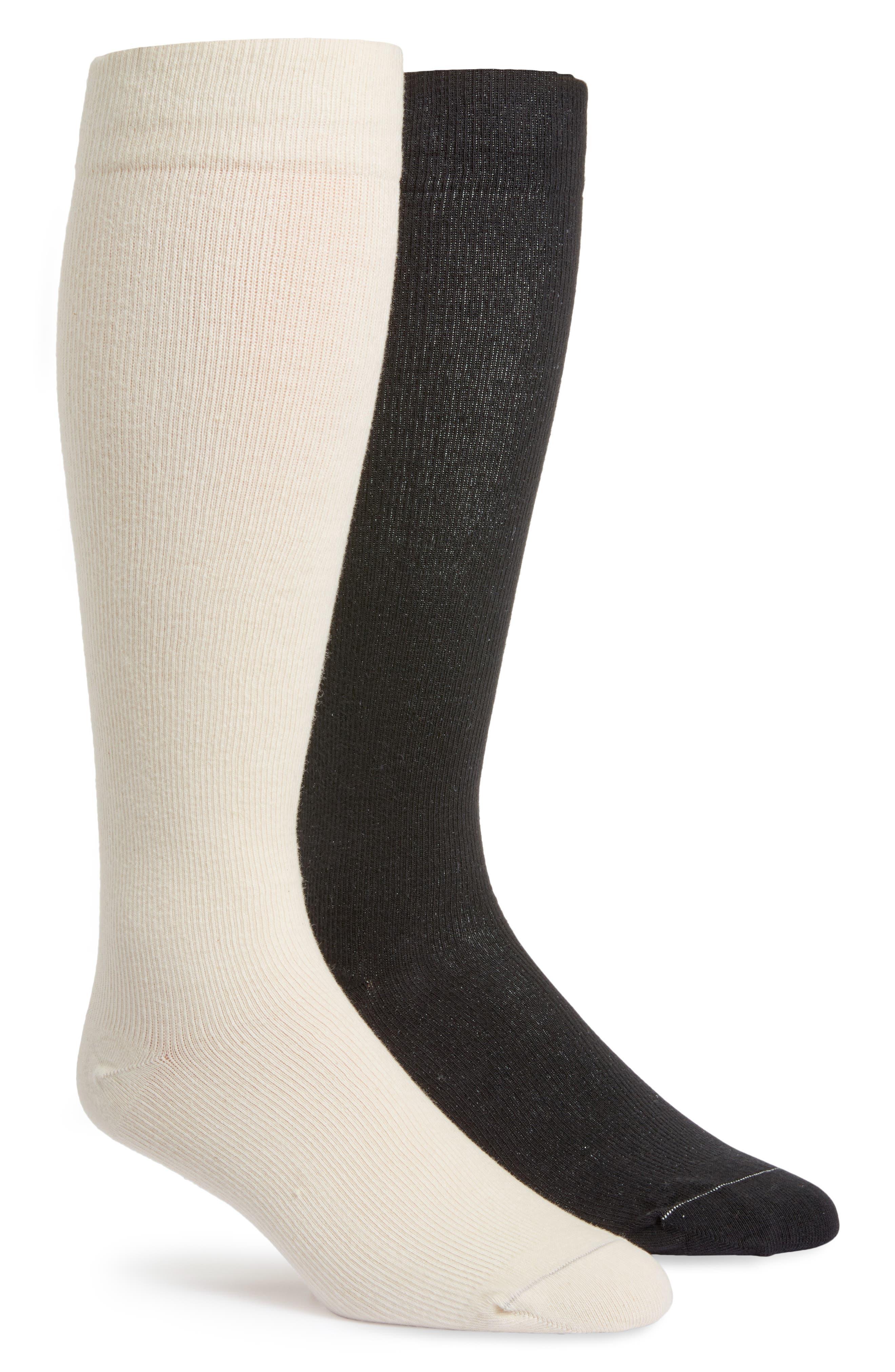 Assorted 2-Pack Organic Cotton Blend Compression Socks