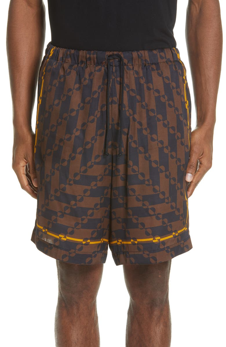 DRIES VAN NOTEN Piper Bis Print Shorts, Main, color, 200