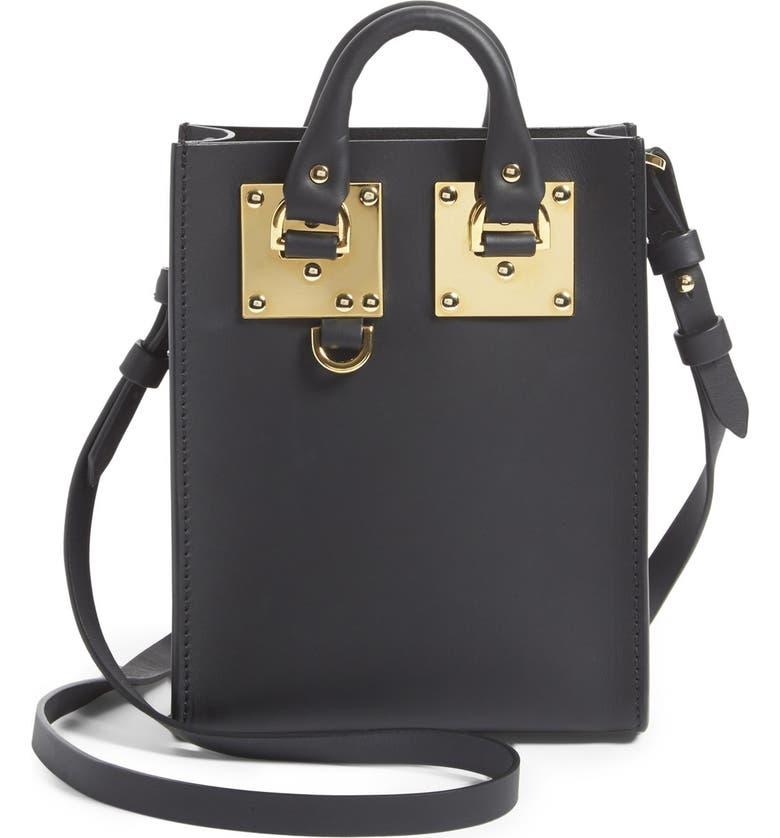 SOPHIE HULME 'Nano Albion' Crossbody Bag, Main, color, 001