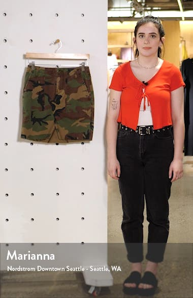 Stone Camo Utility Skirt, sales video thumbnail