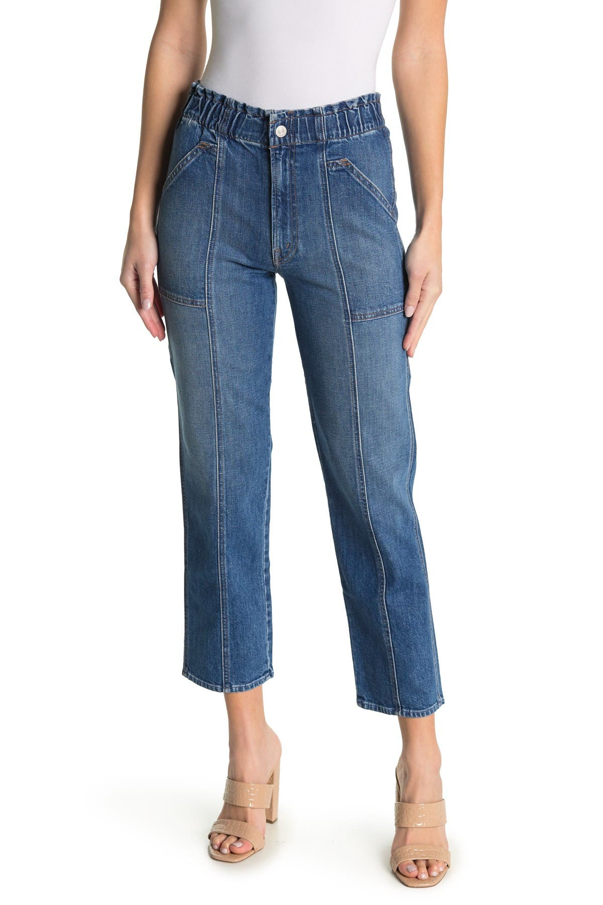Image of MOTHER The Springy Ankle Crop Straight Jeans