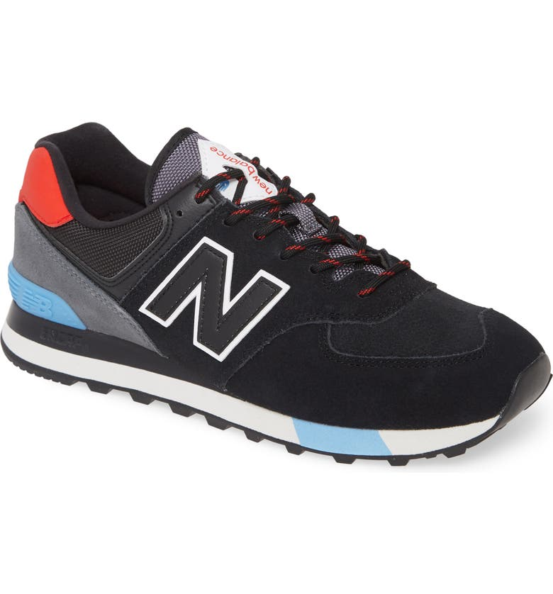 NEW BALANCE 574 Classic Sneaker, Main, color, BLACK SUEDE