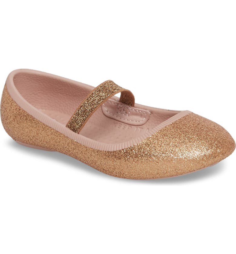 NATIVE SHOES Margot Bling Glitter Vegan Mary Jane, Main, color, ROSE GOLD BLING