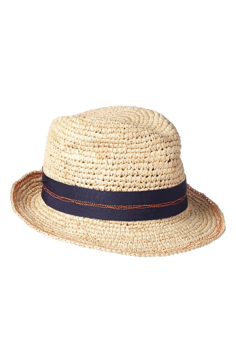 LOLA HATS Tarboush Azure Raffia Hat, Main, color, 410