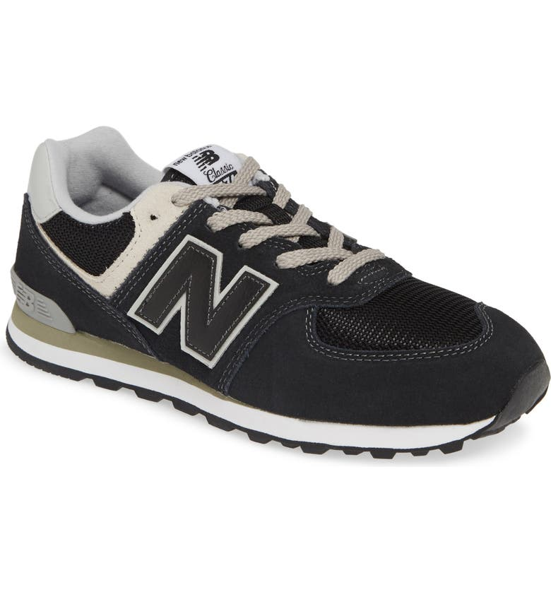 NEW BALANCE 574 Serpent Luxe Sneaker, Main, color, BLACK/ GREY