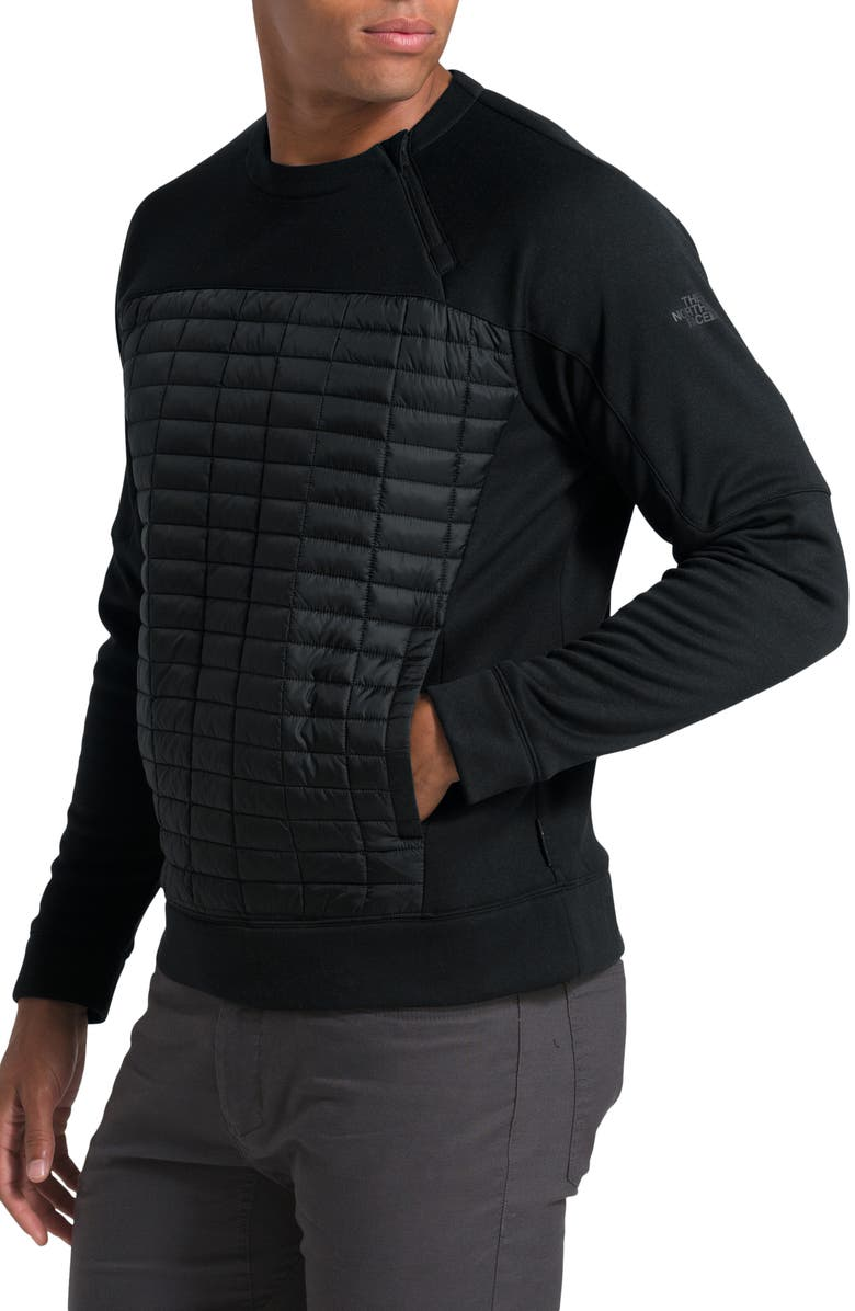 THE NORTH FACE ThermoBall<sup>™</sup> Flash Sweatshirt, Main, color, TNF BLACK