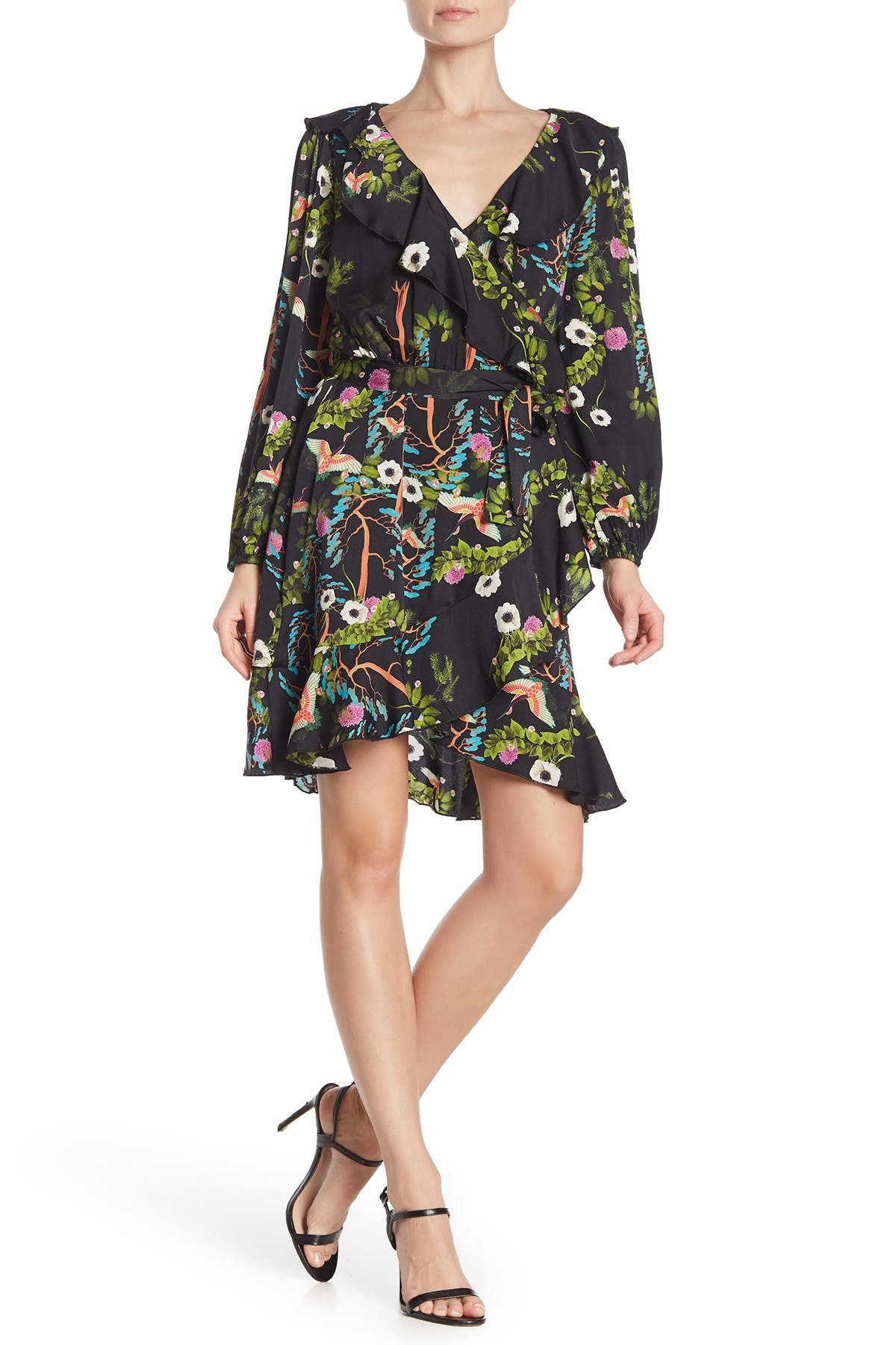 Image of Cynthia Rowley Malibu Floral Print Wrap Dress