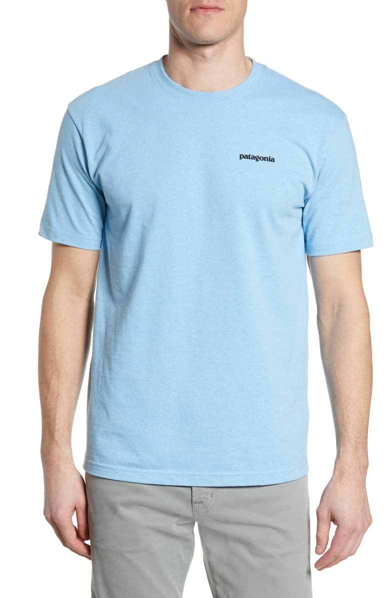 PATAGONIA Fitz Roy Tarpon Responsibili-Tee T-Shirt, Main, color, BREAK UP BLUE
