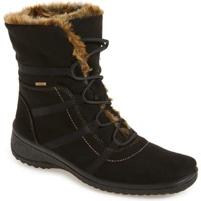 Ara Magaly Waterproof Gore-Tex Faux Fur Boot- Black