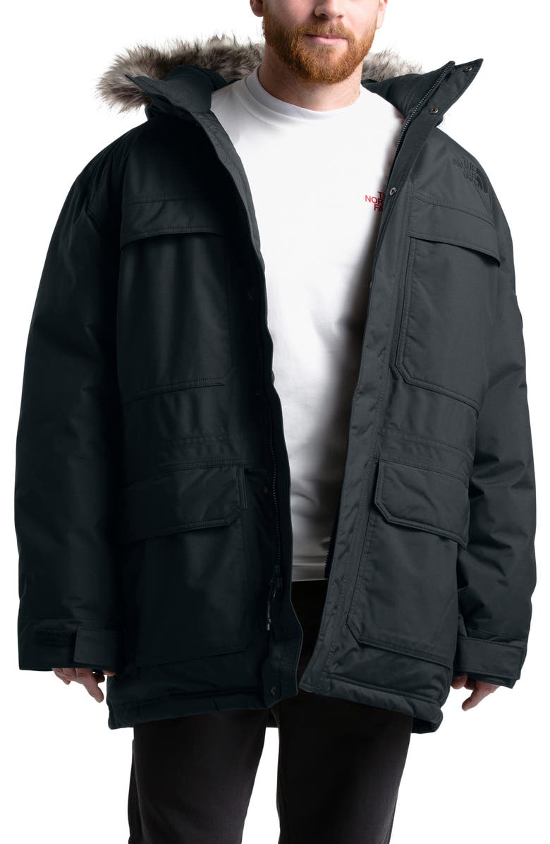 THE NORTH FACE McMurdo III Waterproof 500 Fill Power Down Parka with Faux Fur Trim, Main, color, 001