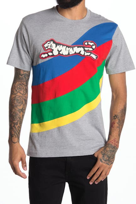 Image of Le Tigre Colorblock Wave Graphic T-Shirt