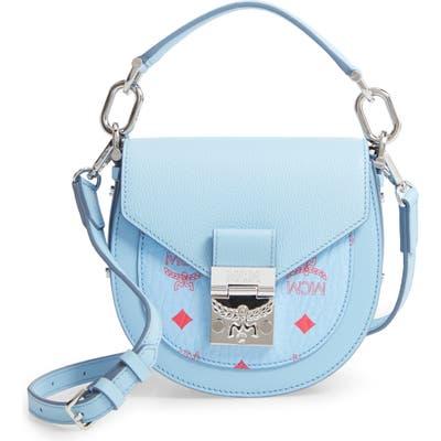 Mcm Patricia Visetos Block Coated Canvas & Leather Crossbody Bag - Blue