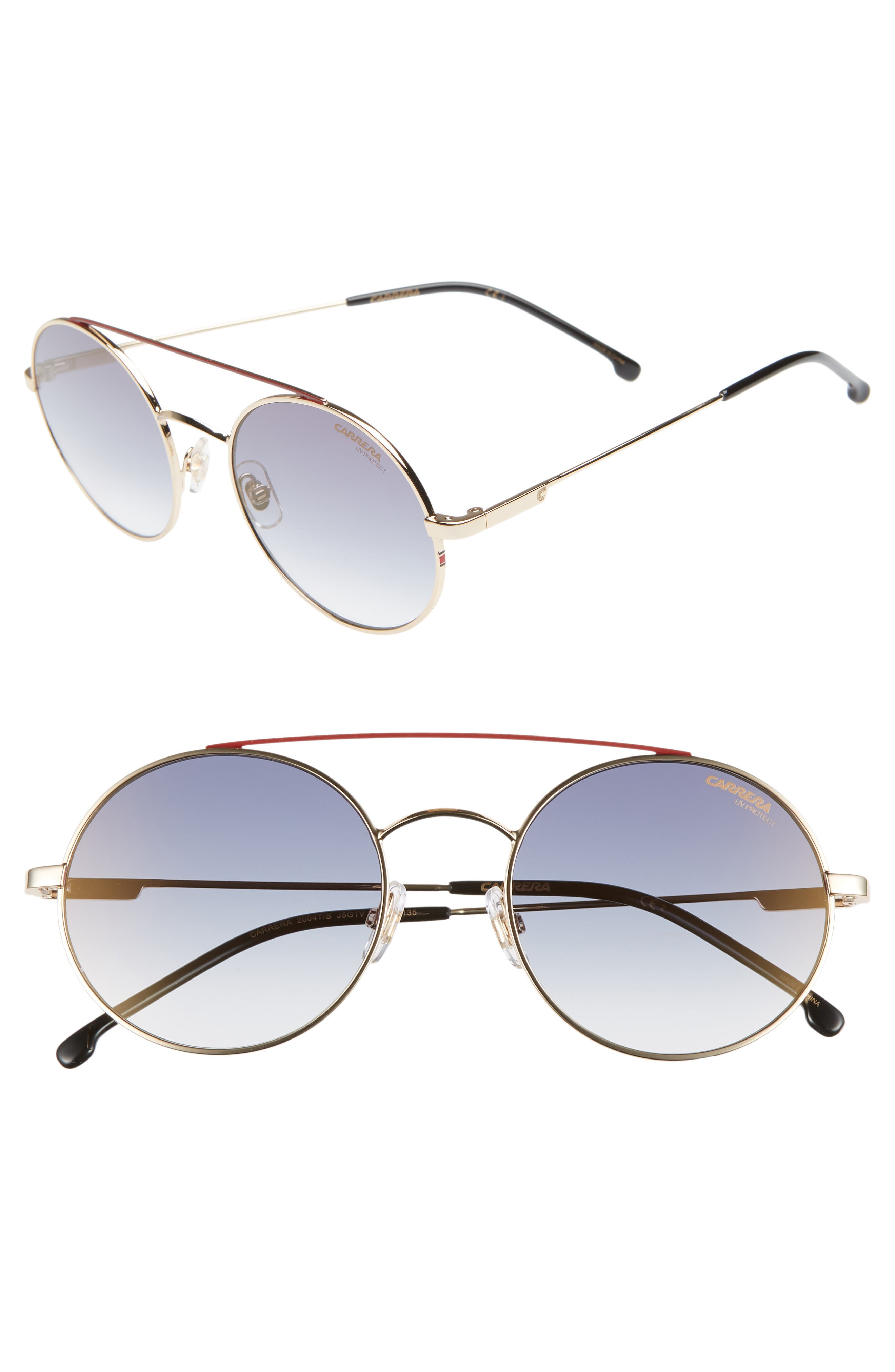 Carrera Eyewear 51Mm Round Sunglasses - Gold
