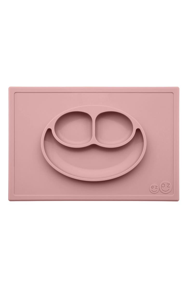EZPZ 'Happy Mat' Silicone Feeding Mat, Main, color, BLUSH