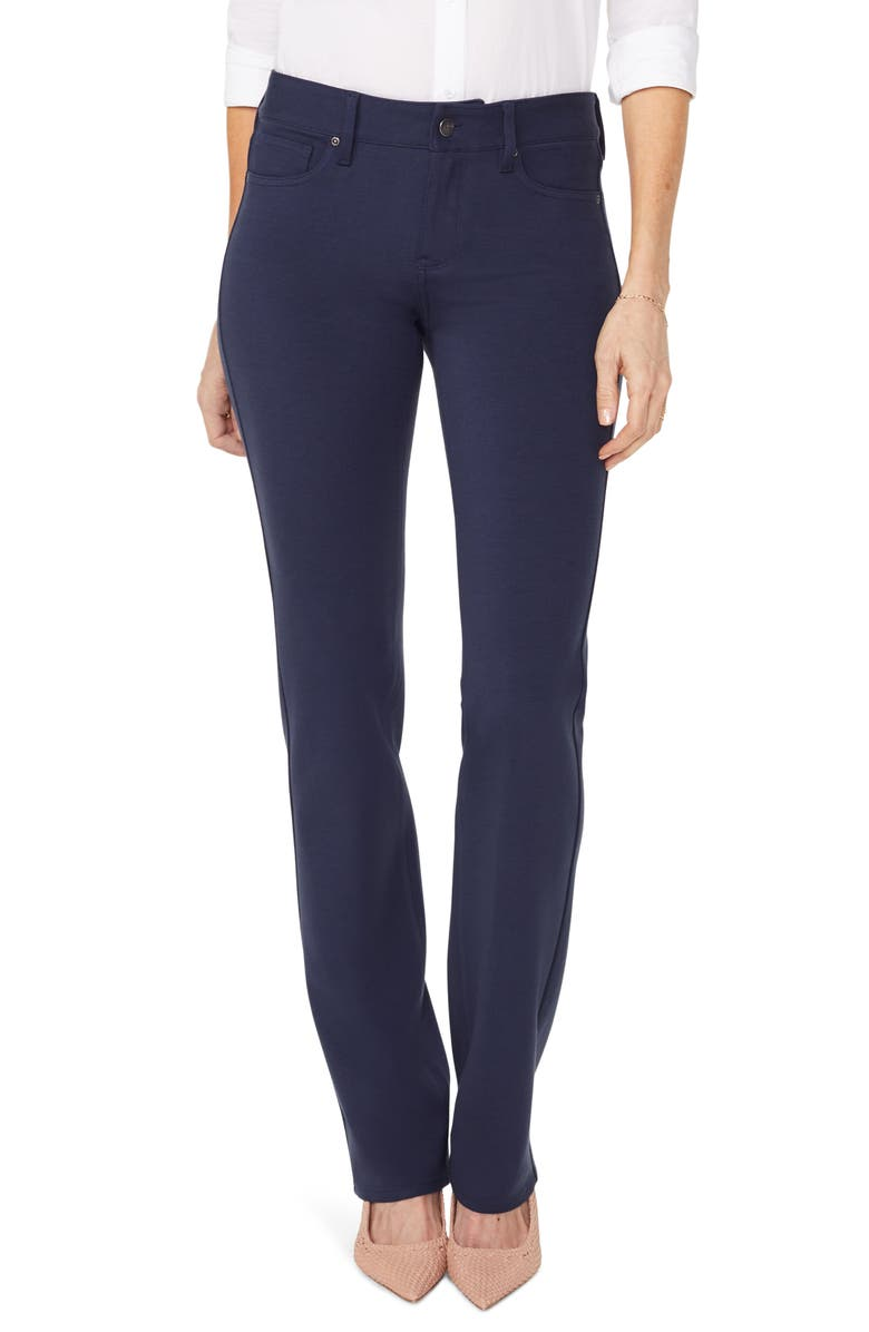NYDJ Marilyn Straight Leg Ponte Pants, Main, color, EVENING TIDE