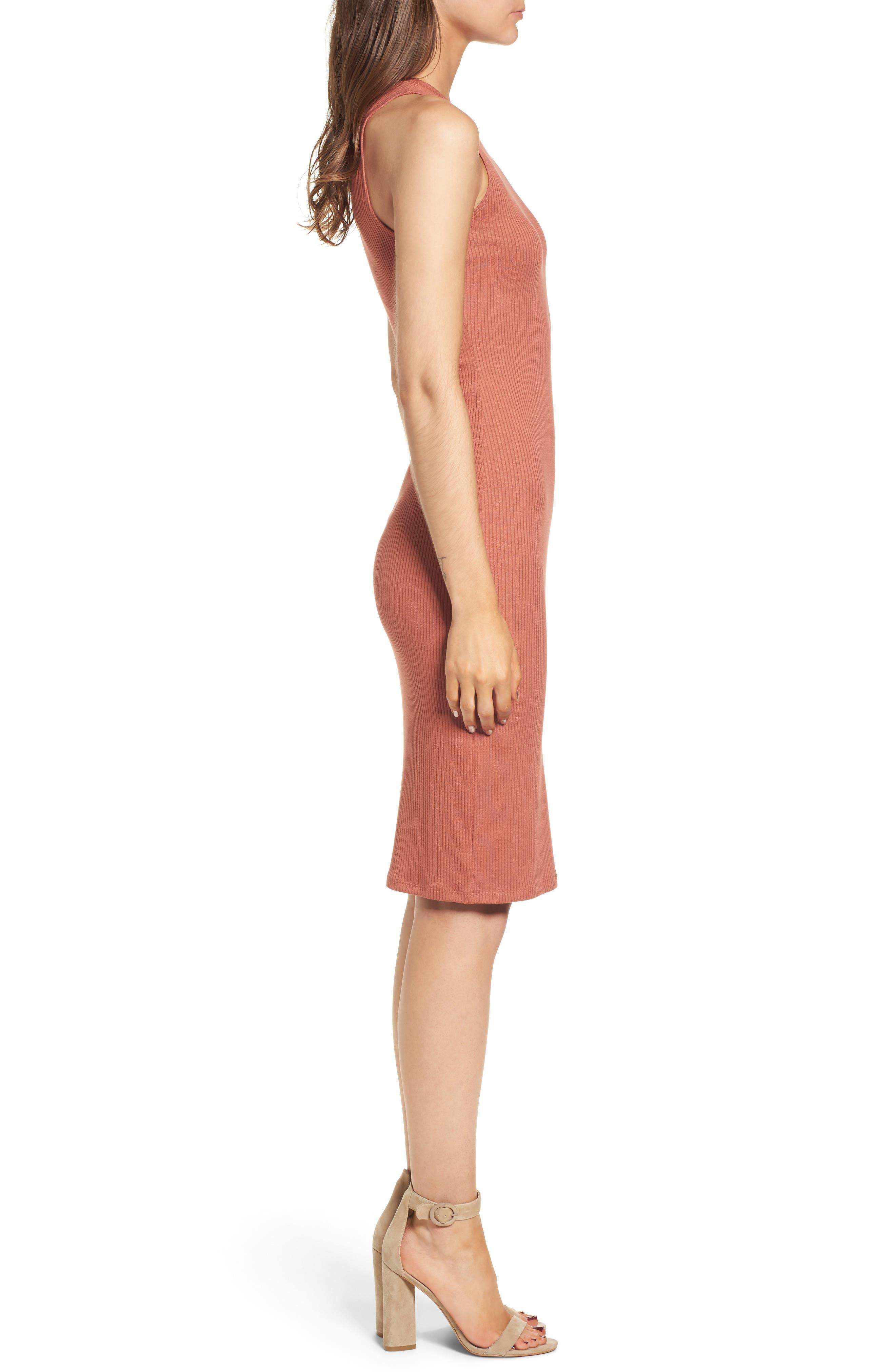 ,                             Rib Tank Dress,                             Alternate thumbnail 3, color,                             958