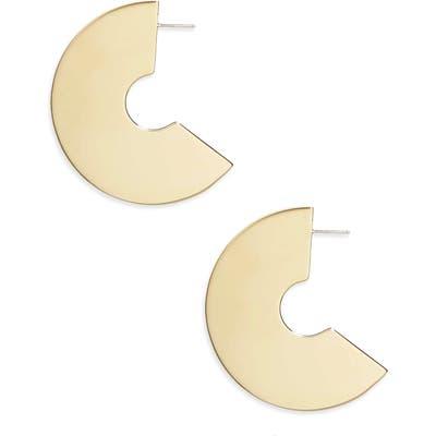 Faris Disc Drop Earrings