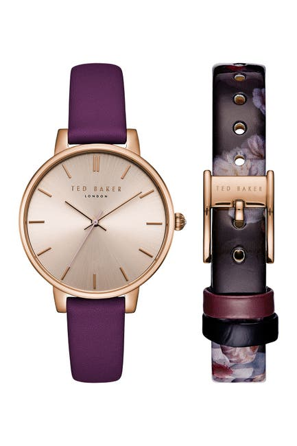 Image of Ted Baker London Women's Quartz Leather Strap Watch, 38mm