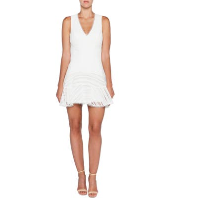Bardot Fiesta Embroidered Lace Sheath Dress, Ivory