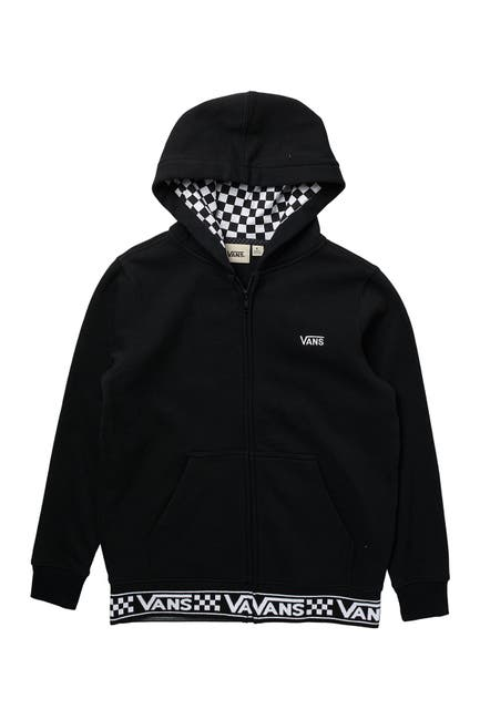 Image of VANS Ribbed Check Zip Hoodie