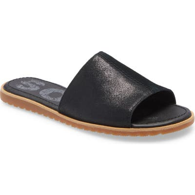 Sorel Ella Slide Sandal, Black
