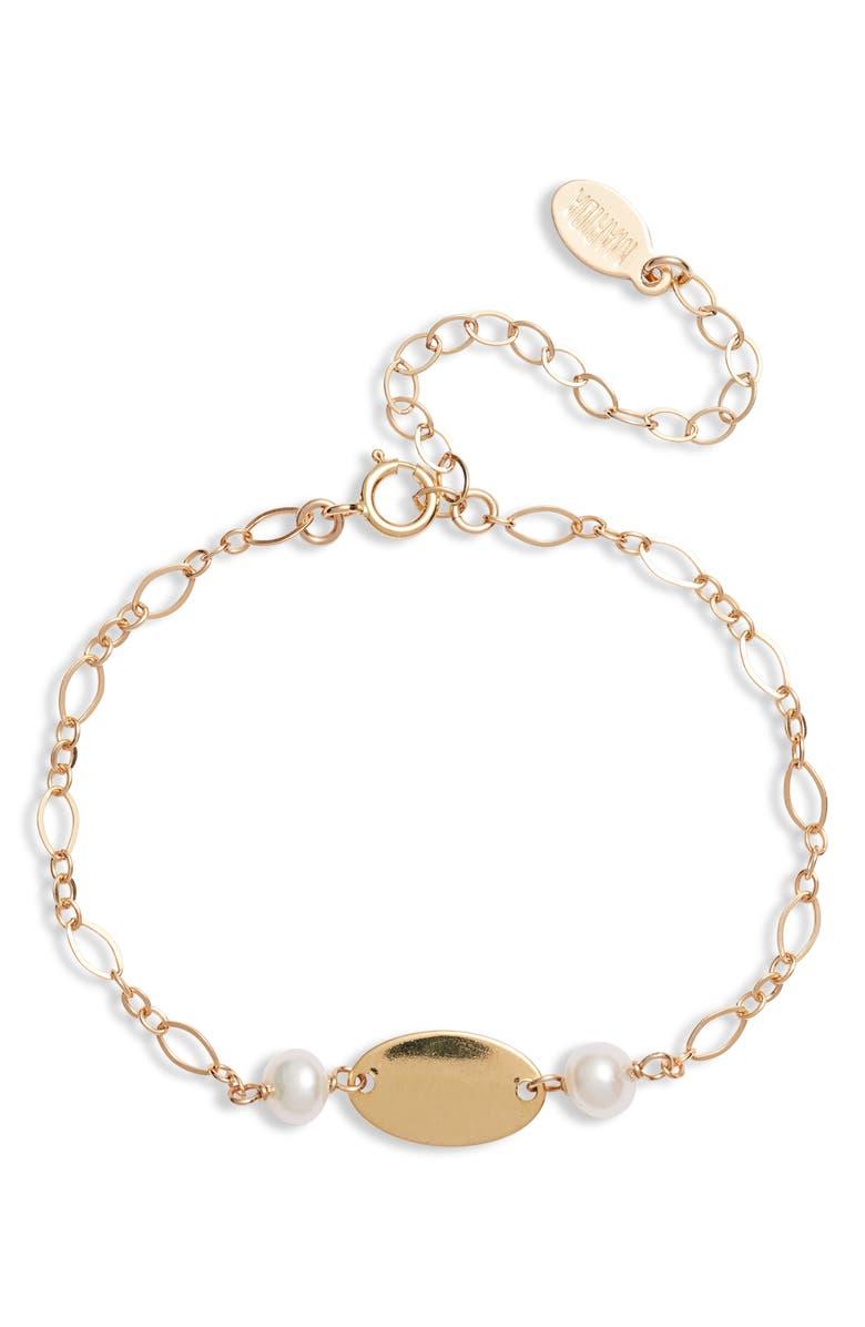 MARIDA Romance Pearl Bracelet, Main, color, PEARL/ GOLD