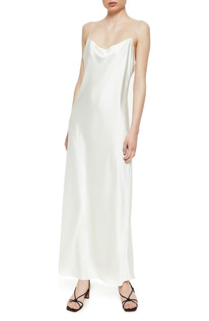 Anine Bing Silks CHLOE SILK SATIN MAXI SLIPDRESS