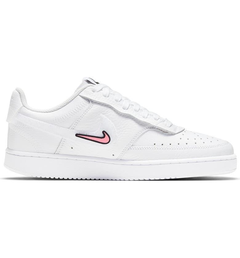 NIKE Court Vision Sneaker, Main, color, 100 WHITE/WHITE