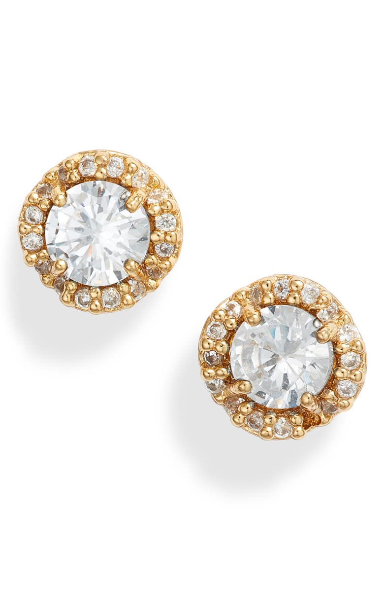 KATE SPADE NEW YORK that sparkle stud earrings, Main, color, CLEAR/ GOLD