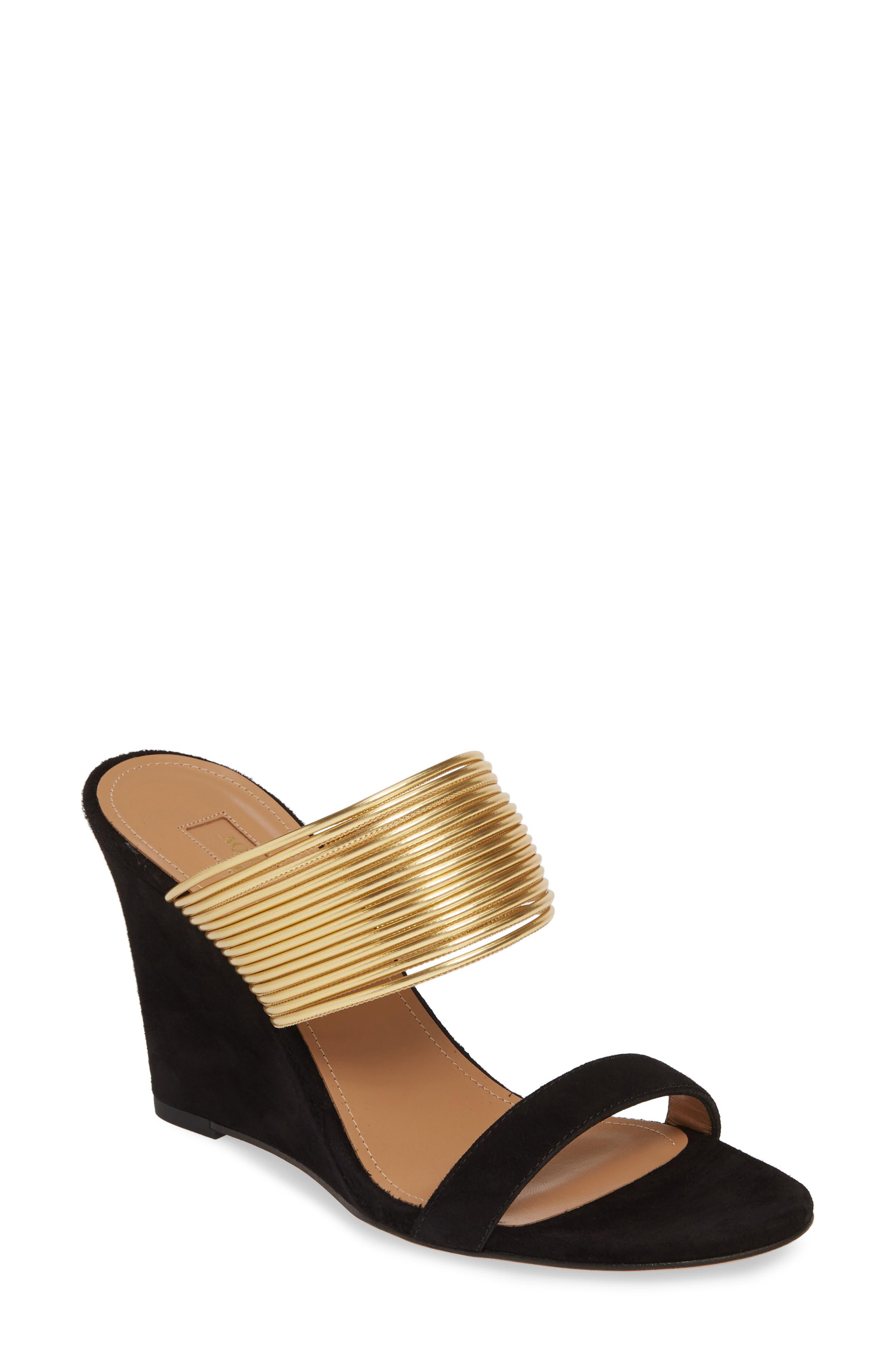 Aquazzura Slippers Rendez Vous Wedge Slide Sandal