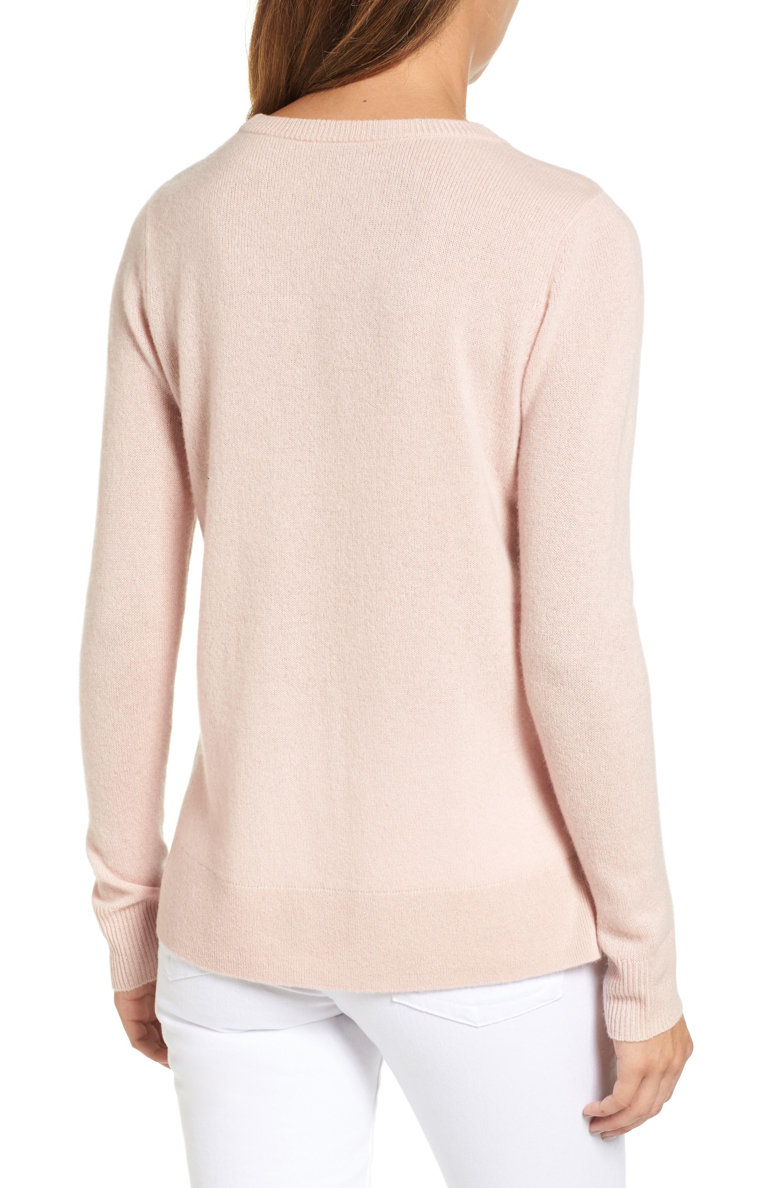 ,                             Crewneck Cashmere Sweater,                             Alternate thumbnail 195, color,                             680