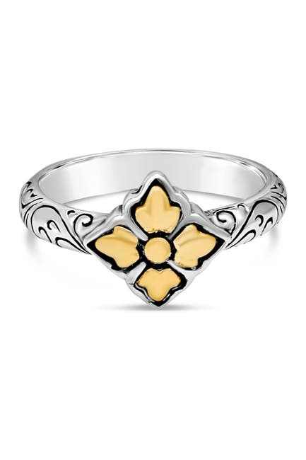 Image of DEVATA Bali Filigree Dome Ring in Sterling Silver and 18K Gold