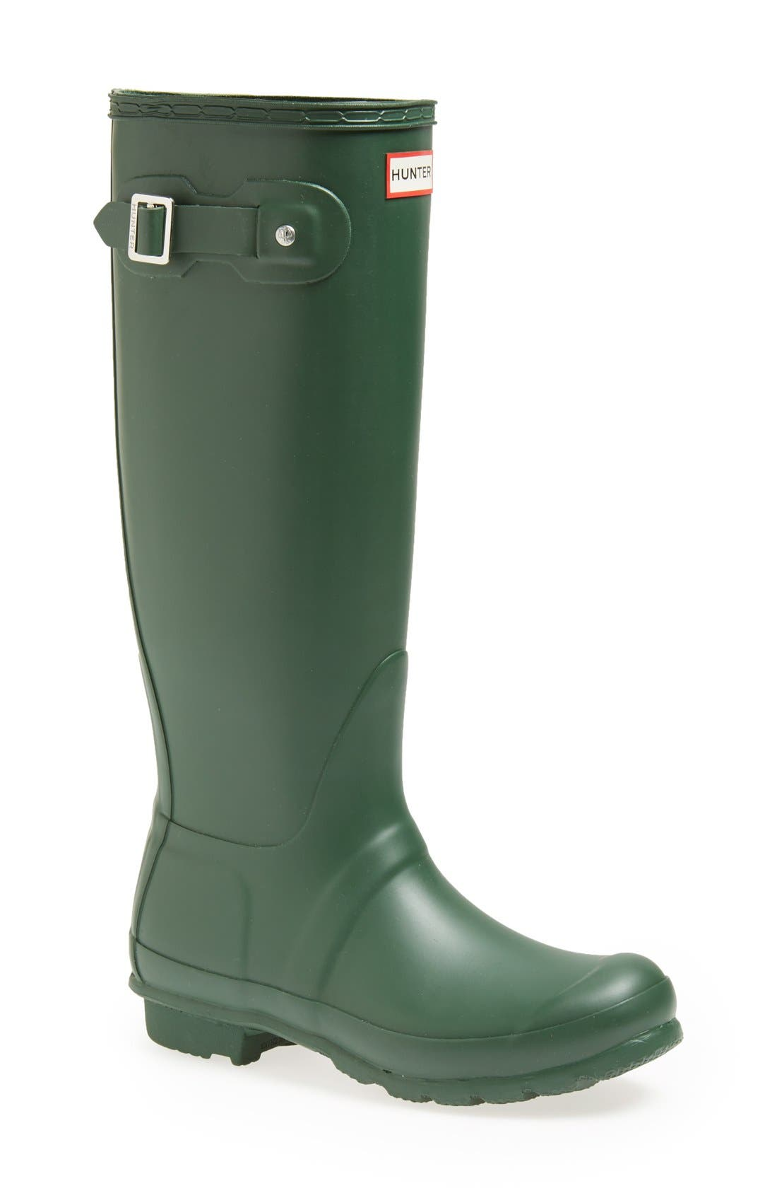 Hunter Original Tall Waterproof Rain Boot, Green