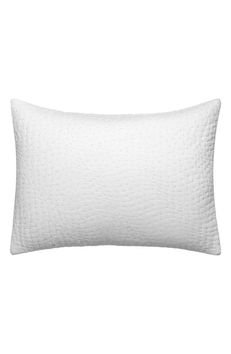 VERA WANG Marble Shibori Quilted Accent Pillow, Main, color, LIGHT BLUE