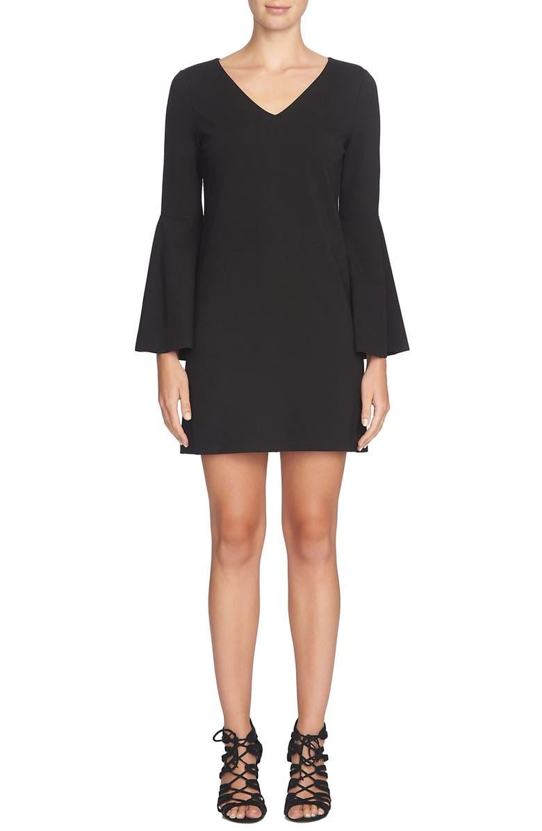 CECE 'Lizzie' Bell Sleeve Shift Dress, Main, color, 006