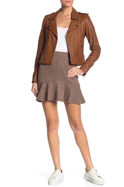 Image of J.O.A. Knit Peplum Hem Skirt