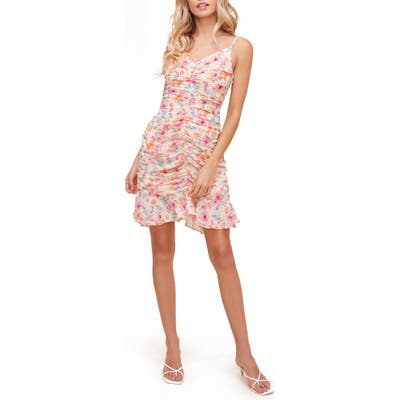Astr The Label Ruched Cami Minidress, Pink