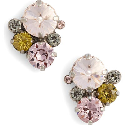 Sorrelli Army Girl Crystal Stud Earrings