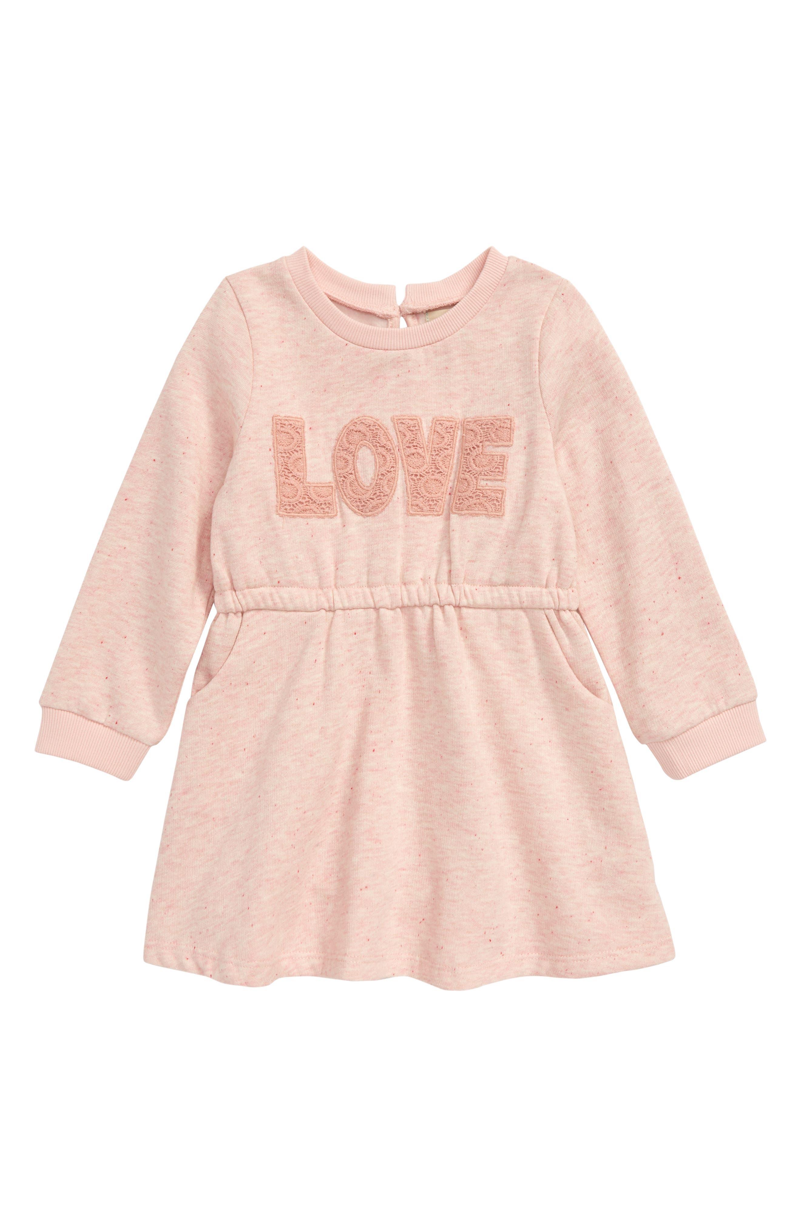 Image of PEEK ESSENTIALS Love Embroidered Sweatshirt Dress