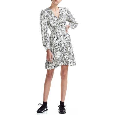 Maje Rosana Long Sleeve Wrap Dress, White