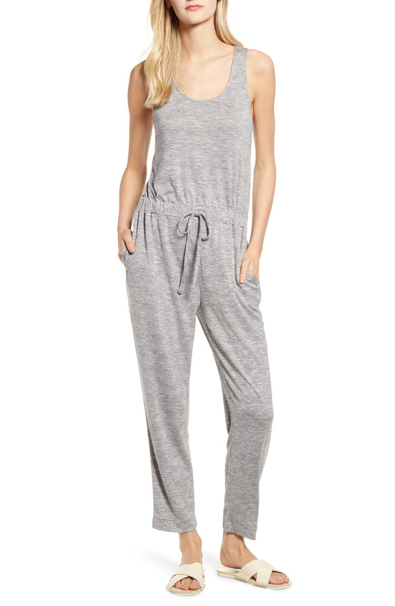LOU & GREY Brushmarl Jumpsuit, Main, color, 020