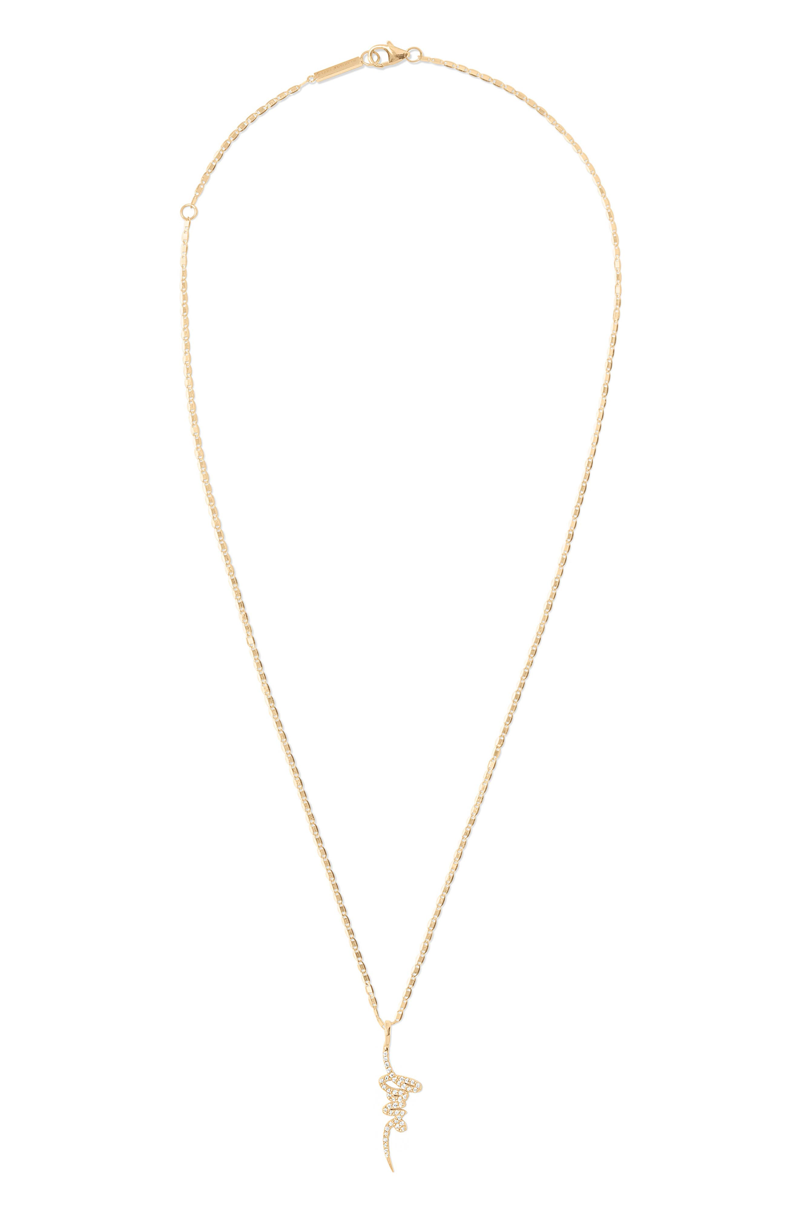 Flawless Diamond Love Pendant Necklace