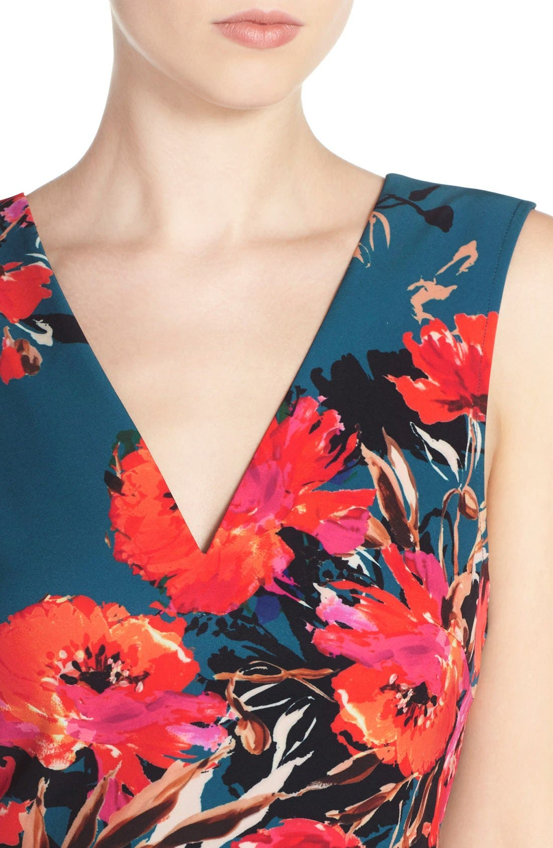 ,                             Bianca Back Cutout Fit & Flare Dress,                             Alternate thumbnail 47, color,                             421