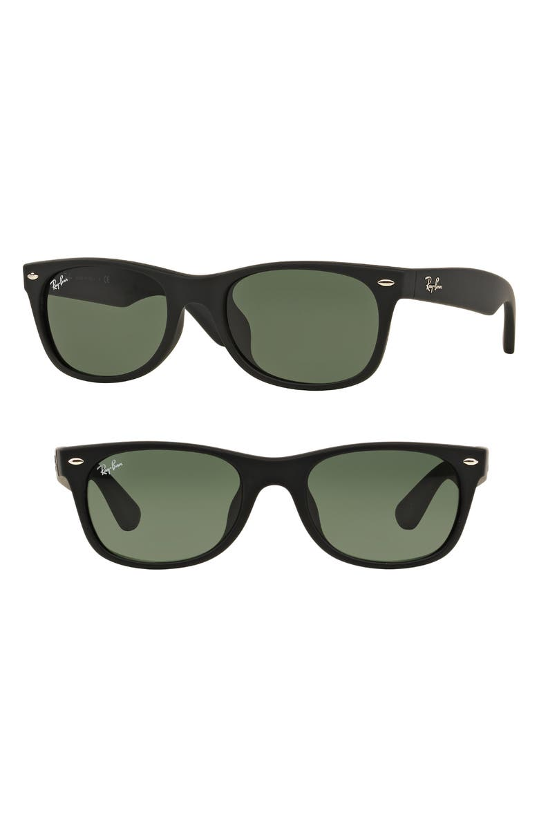 RAY-BAN New Wayfarer Classic 55mm Sunglasses, Main, color, 001