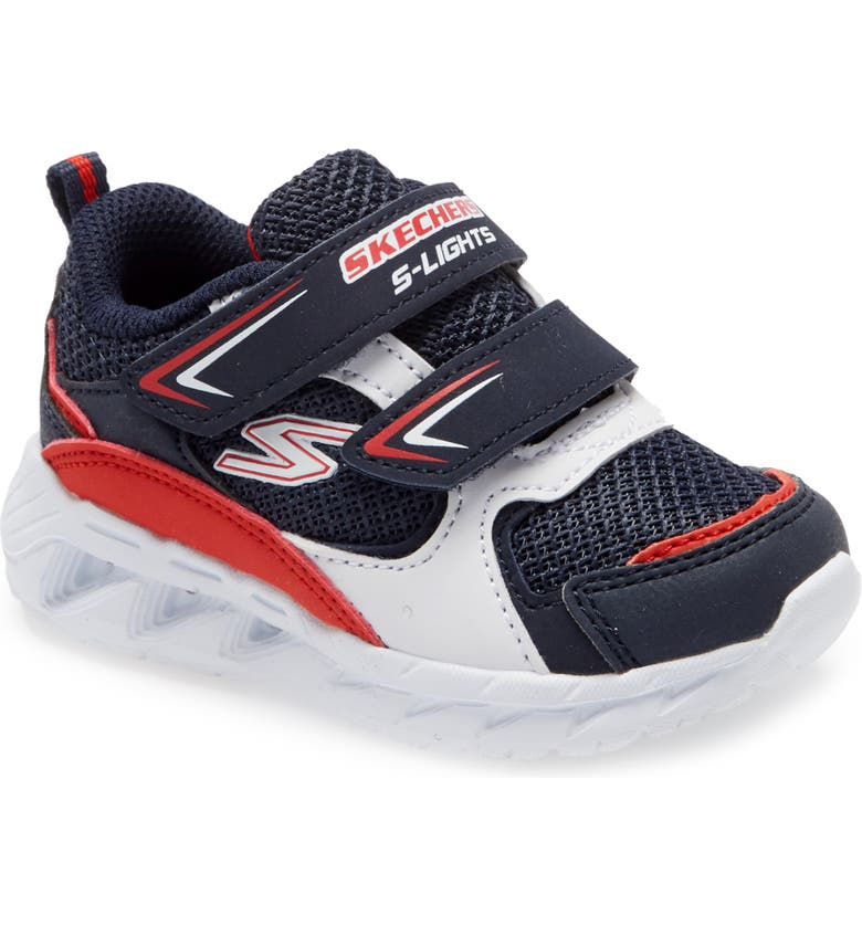 SKECHERS S-Lights Light Up Sneaker, Main, color, NAVY/ RED