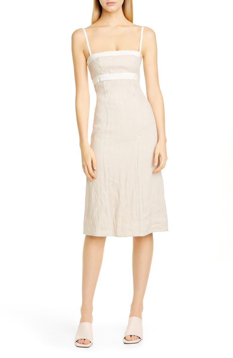 BROCK COLLECTION Grosgrain Strap Sheath Dress, Main, color, LIGHT/ PASTEL