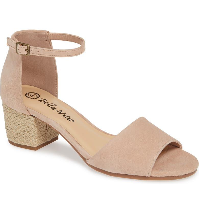 BELLA VITA Fable Sandal, Main, color, BLUSH SUEDE