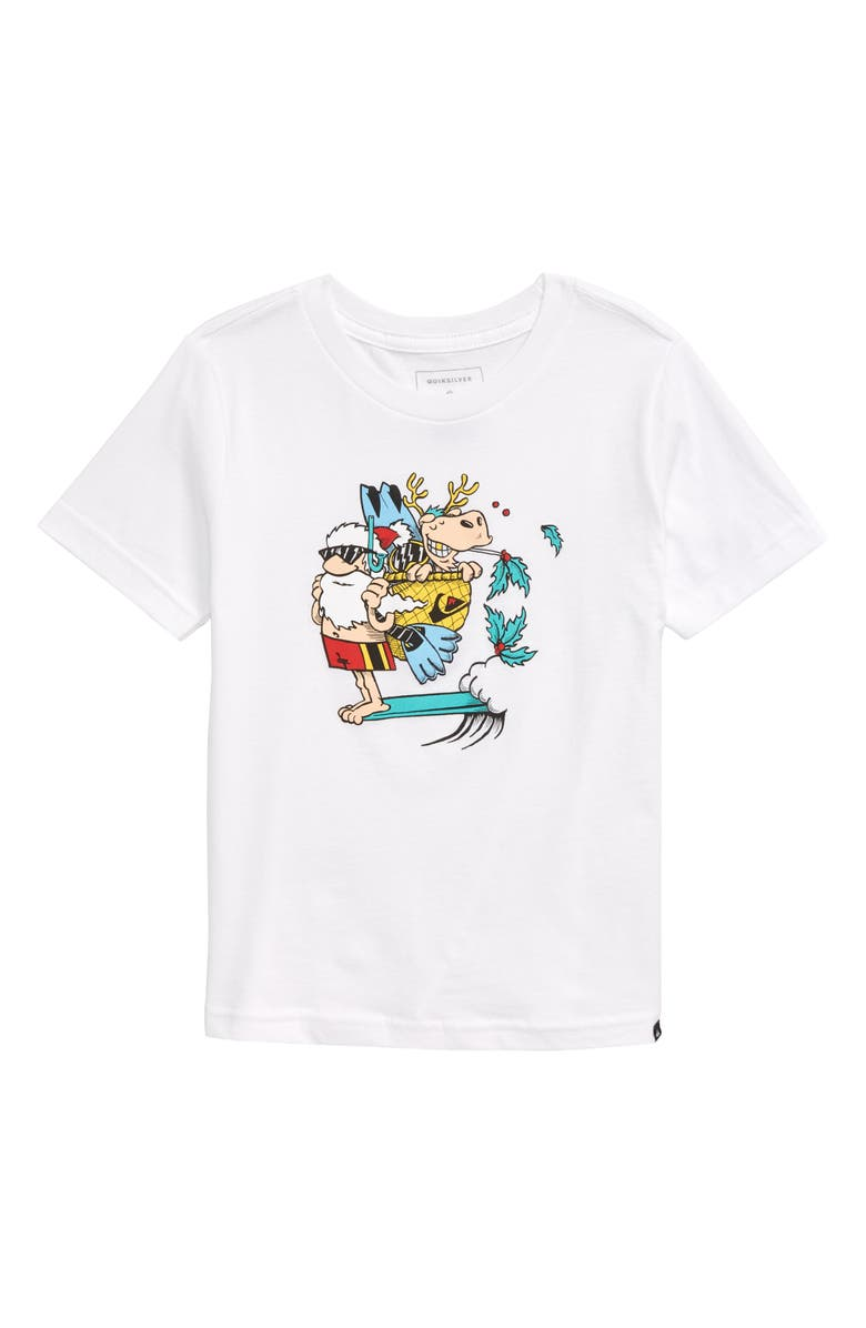 QUIKSILVER Santa Pack T-Shirt, Main, color, WHITE