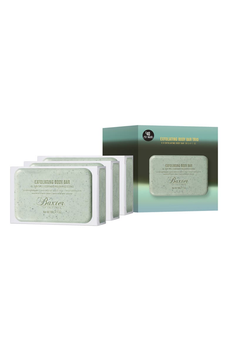BAXTER OF CALIFORNIA Full Size Exfoliating Body Bar Trio, Main, color, NO COLOR