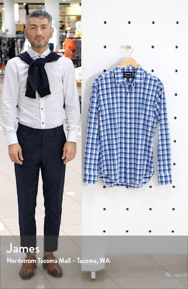 Slim Fit Check Tech Shirt, sales video thumbnail